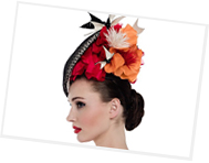 Fashion hat designed by Melbourne milliner Louise Macdonald