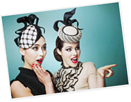 Fashion hats designed by Melbourne milliner Louise Macdonald