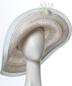 Fashion hat Brighton by Melbourne milliner Louise Macdonald