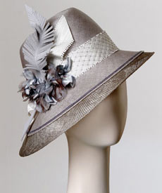 Fashion hat Capri by Melbourne milliner Louise Macdonald