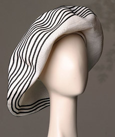 Fashion hat Deauville by Melbourne milliner Louise Macdonald
