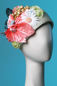 Fashion hat Eden Cloche by Melbourne milliner Louise Macdonald