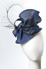 Fashion hat Jervis Blue by Melbourne milliner Louise Macdonald