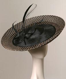 Fashion hat Monte Carlo Noir by Melbourne milliner Louise Macdonald