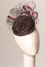 Fashion hat Monterosso by Melbourne milliner Louise Macdonald
