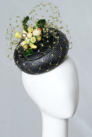 Fashion hat Portofino by Melbourne milliner Louise Macdonald