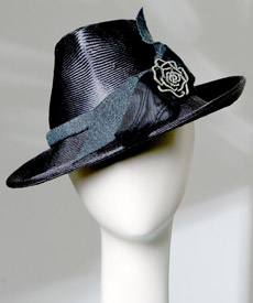 Fashion hat Portsea by Melbourne milliner Louise Macdonald