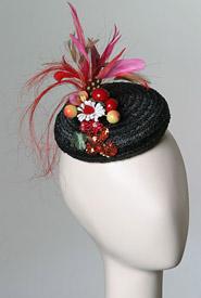 Fashion hat Ravenna by Melbourne milliner Louise Macdonald