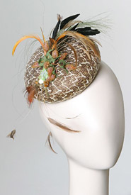 Fashion hat Rimini by Melbourne milliner Louise Macdonald