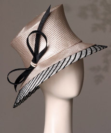 Fashion hat Sorrento by Melbourne milliner Louise Macdonald