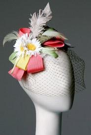 Fashion hat St Tropez by Melbourne milliner Louise Macdonald