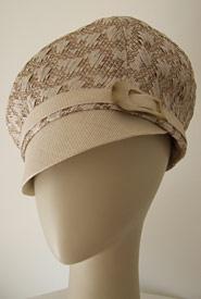 Fashion hat Bibi Cap by Melbourne milliner Louise Macdonald