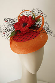 Fashion hat Coconut Grove beret by Melbourne milliner Louise Macdonald