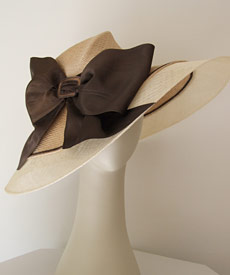 Fashion hat Dolly by Melbourne milliner Louise Macdonald