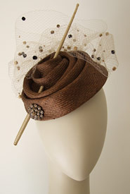 Fashion hat Escargot by Melbourne milliner Louise Macdonald