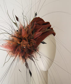 Fashion hat Jeannie turban by Melbourne milliner Louise Macdonald