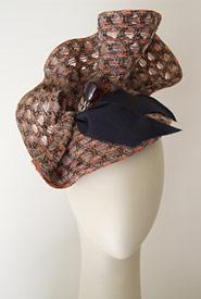 Fashion hat Jervis by Melbourne milliner Louise Macdonald