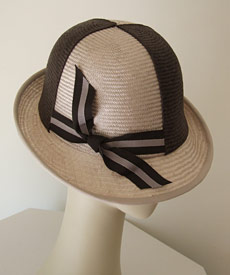 Fashion hat Jockey Cap by Melbourne milliner Louise Macdonald