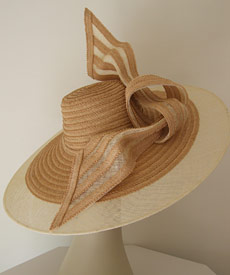 Fashion hat Nikita by Melbourne milliner Louise Macdonald