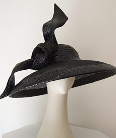 Fashion hat Mrs Robinson by Melbourne milliner Louise Macdonald