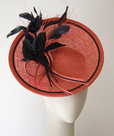 Fashion hat Solange by Melbourne milliner Louise Macdonald