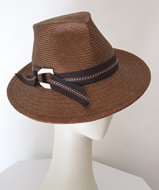 Fashion hat Trilby by Melbourne milliner Louise Macdonald