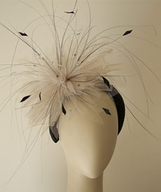Fashion hat Tulle headpiece by Melbourne milliner Louise Macdonald