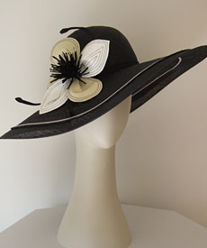 Fashion hat Twiggy by Melbourne milliner Louise Macdonald