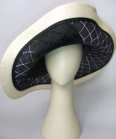 Fashion hat Apollo Prince by Melbourne milliner Louise Macdonald