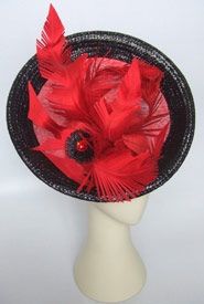 Fashion hat Barbarella by Melbourne milliner Louise Macdonald