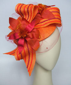 Fashion hat Light Finger by Melbourne milliner Louise Macdonald