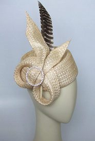 Fashion hat The Parisian by Melbourne milliner Louise Macdonald