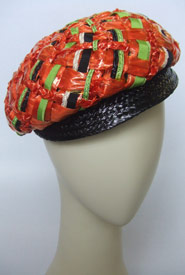 Fashion hat Piping Lane by Melbourne milliner Louise Macdonald