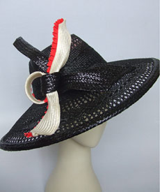 Fashion hat Rimfire by Melbourne milliner Louise Macdonald