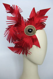 Fashion hat Spearfelt by Melbourne milliner Louise Macdonald