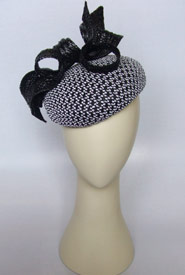 Fashion hat Tawriffic by Melbourne milliner Louise Macdonald
