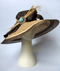 Fashion hat Think Big by Melbourne milliner Louise Macdonald