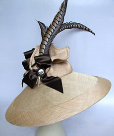 Fashion hat Allegro by Melbourne milliner Louise Macdonald