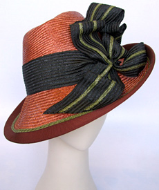 Fashion hat Andante by Melbourne milliner Louise Macdonald