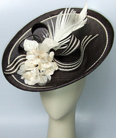 Fashion hat Bacarolle by Melbourne milliner Louise Macdonald