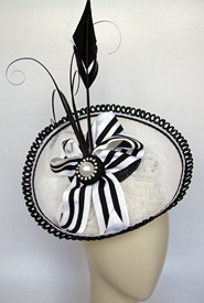 Fashion hat Black and White Polka by Melbourne milliner Louise Macdonald