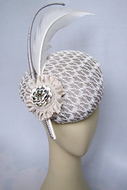 Fashion hat Bolero by Melbourne milliner Louise Macdonald