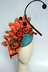 Fashion hat Cha Cha by Melbourne milliner Louise Macdonald