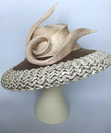 Fashion hat Curlin by Melbourne milliner Louise Macdonald