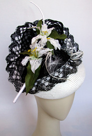 Fashion hat Gigue by Melbourne milliner Louise Macdonald