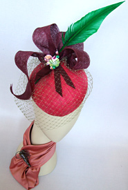 Fashion hat Mazurka by Melbourne milliner Louise Macdonald