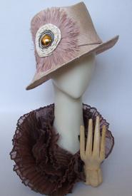 Fashion hat Nina by Melbourne milliner Louise Macdonald