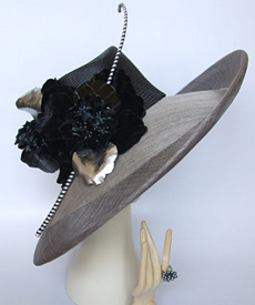 Fashion hat Opera by Melbourne milliner Louise Macdonald