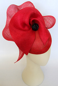 Fashion hat Red Sonata by Melbourne milliner Louise Macdonald