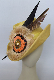 Fashion hat Rondo by Melbourne milliner Louise Macdonald